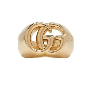 New Authentic Gucci 18k Gold GG Ring Size 9